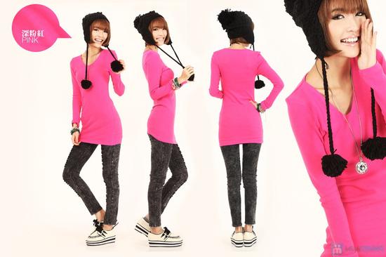 áo thời trang dáng dài cho bạn gái - 3
