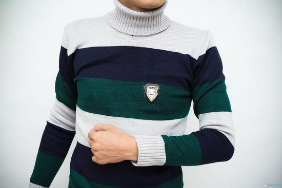 Áo len cổ lo dày cho nam - 3