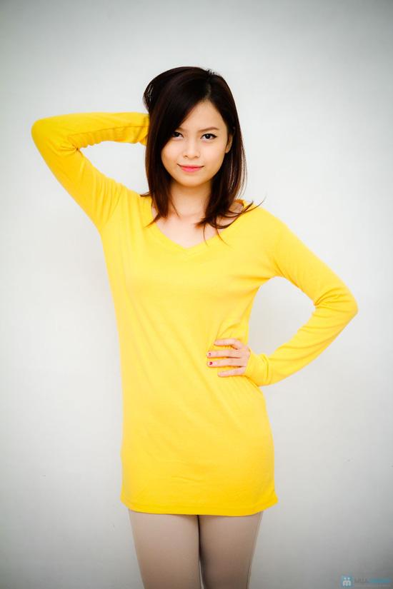 Áo thời trang dáng dài cho bạn gái - 2