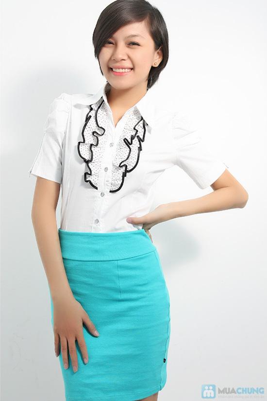 Xinh xắn với áo sơ mi trắng, bèo giữa ngực cho nữ - Bạn gái trẻ trung, dễ thương - Chỉ 80.000đ/01 chiếc - 1