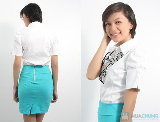 Xinh xắn với áo sơ mi trắng, bèo giữa ngực cho nữ - Bạn gái trẻ trung, dễ thương - Chỉ 80.000đ/01 chiếc - 5
