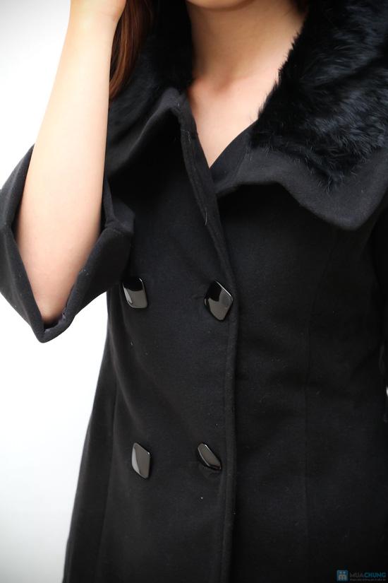 áo khoác dạ cổ lông - 4