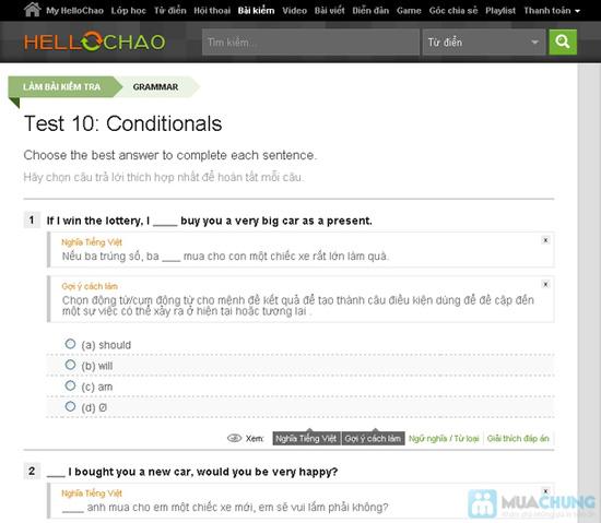 Thẻ học tiếng Anh trực tuyến HelloChao.vn cho 360 ngày,  tặng thêm 01 thẻ học 180 ngày - Chỉ 100.000đ - 5