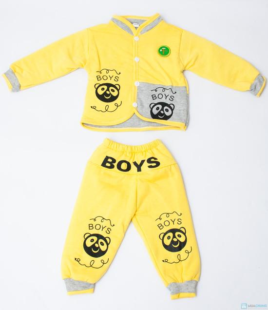 Bộ quần áo bông trần ấm áp cho bé - 10