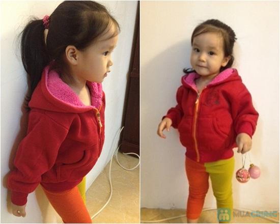 Áo khoác nỉ trẻ em lót lông - 3