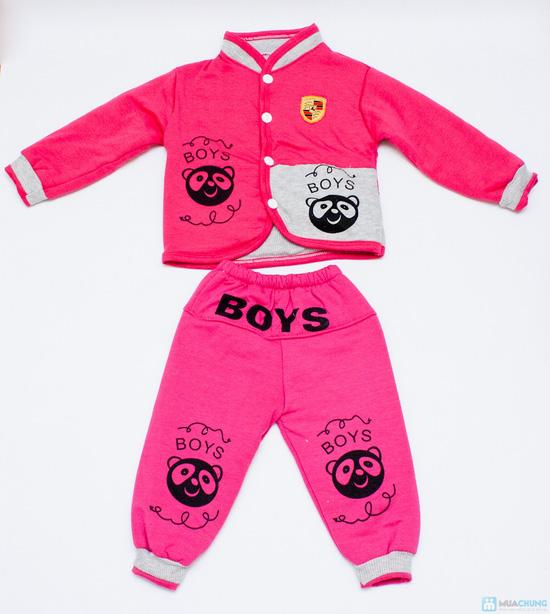 Bộ quần áo bông trần ấm áp cho bé - 2
