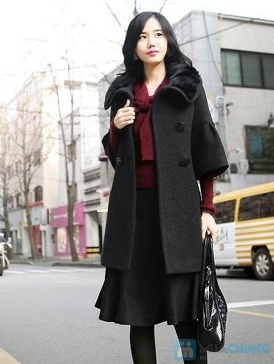 áo khoác dạ cổ lông - 3