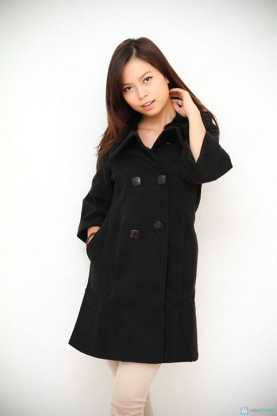 áo khoác dạ cổ lông - 1