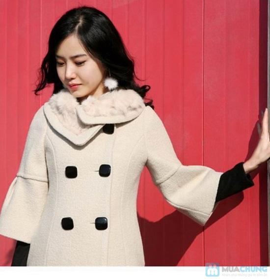 áo khoác dạ cổ lông - 2