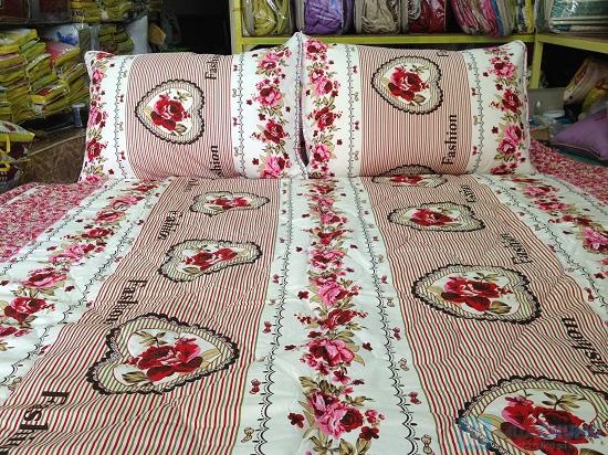 Cho giấc ngủ sâu với bộ Drap + Chăn + 02 vỏ gối nằm + 01 vỏ gối ôm cotton Thắng Lợi - Chỉ 560.000đ/01 bộ - 5