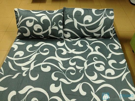 Cho giấc ngủ sâu với bộ Drap + Chăn + 02 vỏ gối nằm + 01 vỏ gối ôm cotton Thắng Lợi - Chỉ 560.000đ/01 bộ - 7