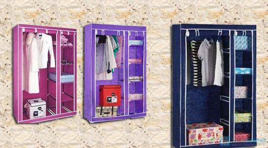 Tủ vải đựng quần áo cao cấp - 12