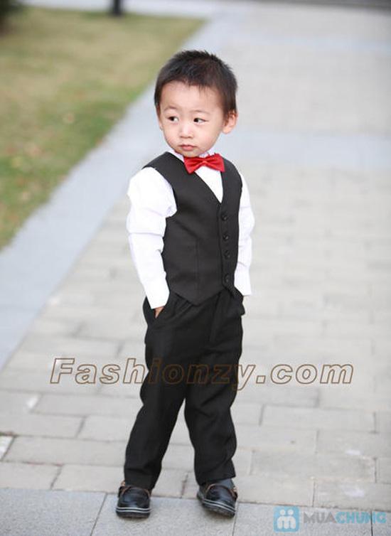 Bộ Quần áo gile âu trẻ em - 1
