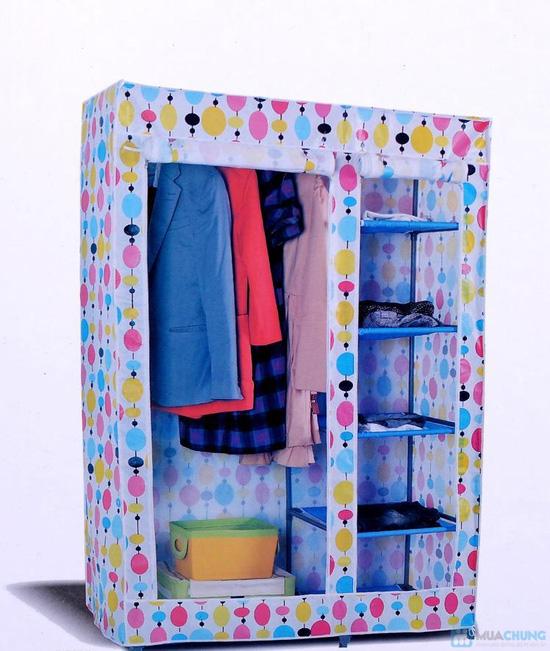 Tủ vải đựng quần áo cao cấp - 8