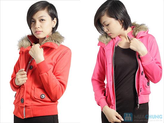 Áo khoác cổ lông ấm áp, phong cách Tây Âu, cho bạn gái vẻ ngoài sành điệu - Chỉ 120.000đ/ 01 áo - 5