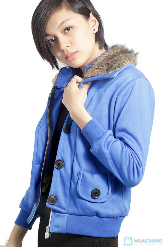 Áo khoác cổ lông ấm áp, phong cách Tây Âu, cho bạn gái vẻ ngoài sành điệu - Chỉ 120.000đ/ 01 áo - 1