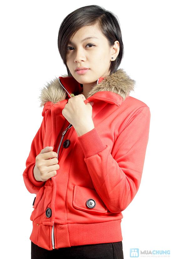 Áo khoác cổ lông ấm áp, phong cách Tây Âu, cho bạn gái vẻ ngoài sành điệu - Chỉ 120.000đ/ 01 áo - 2