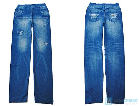 Quần legging giả jeans rách sành điệu - Chỉ 73.000đ/01 chiếc - 1