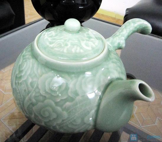 Bộ ấm trà men ngọc Hàn Quốc - quà tặng ý nghĩa cho ngày 20/11 - Chỉ 135.000đ/bộ - 2