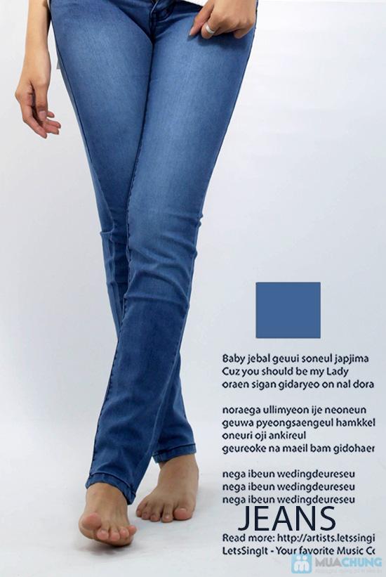 Quần jean dài cho nữ - co giãn 4 chiều - Chỉ 125.000đ/01 chiếc - 2