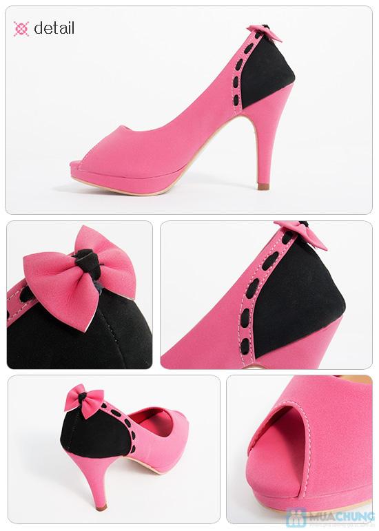 Giày cao gót nữ đính nơ - Giúp dáng đi bạn gái thêm uyển chuyển - Chỉ 165.000đ/01 đôi - 3