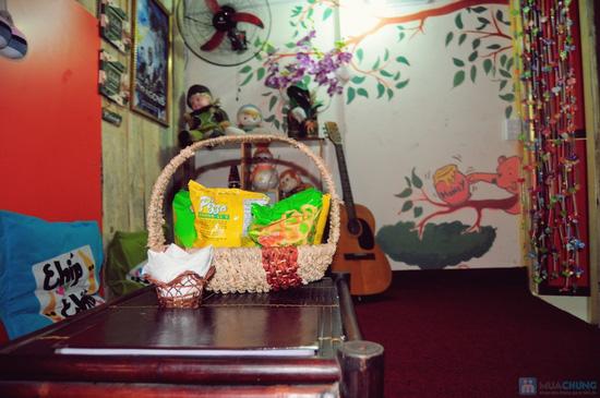 Xem phim HD + Đồ ăn nhẹ cho 2-3 người tại ChipChip 3D Cafe - Chỉ 110.000đ - 12
