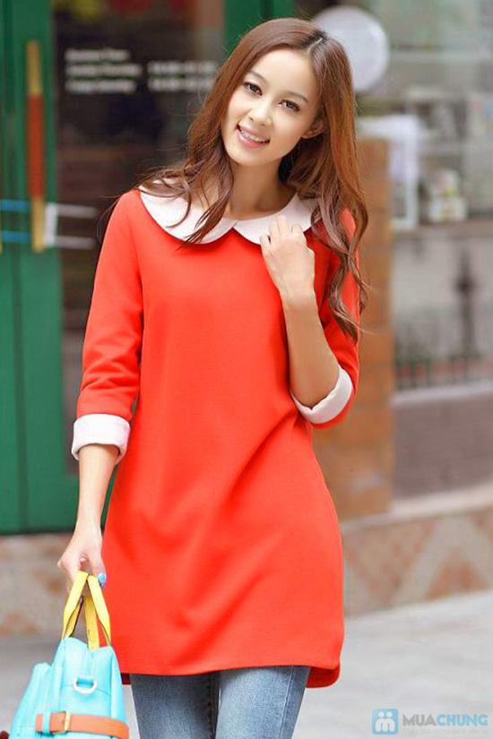Đầm dài tay màu đỏ cam xinh xắn dành cho bạn gái - Chỉ 135.000đ/01 chiếc - 4