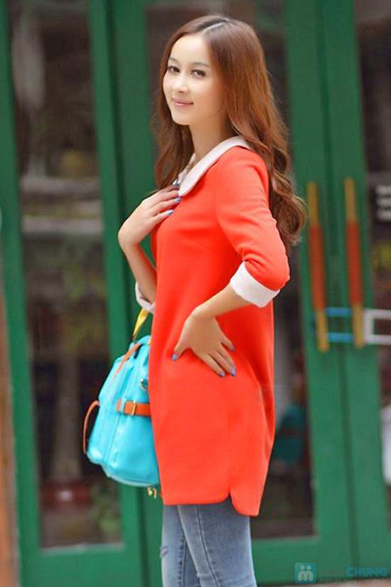 Đầm dài tay màu đỏ cam xinh xắn dành cho bạn gái - Chỉ 135.000đ/01 chiếc - 3