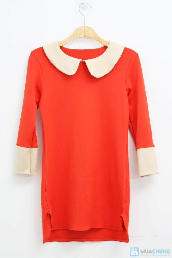 Đầm dài tay màu đỏ cam xinh xắn dành cho bạn gái - Chỉ 135.000đ/01 chiếc - 5