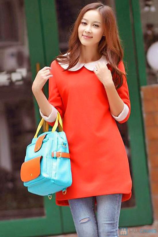Đầm dài tay màu đỏ cam xinh xắn dành cho bạn gái - Chỉ 135.000đ/01 chiếc - 1