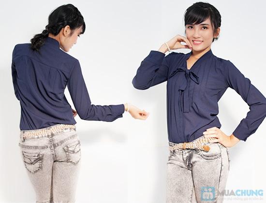 Trẻ trung và phong cách với chiếc áo sơ mi nơ xinh xắn - Chỉ 115.000đ/01 chiếc - 4