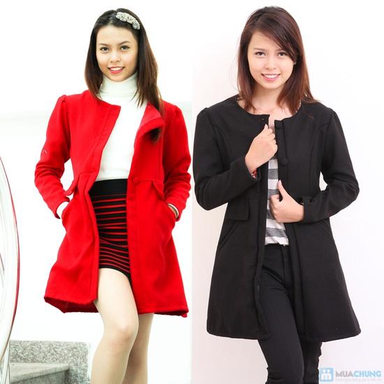 Áo váy dạ hai lớp thời trang và thanh lịch cho bạn gái