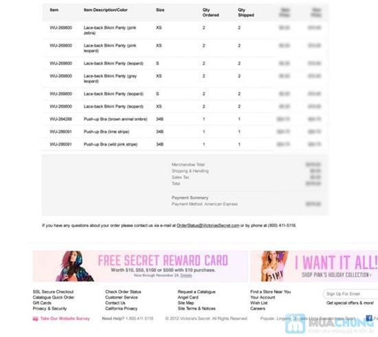 Quần lót nữ thời trang hiệu Victoria's Secret- Sexy, quyến rũ đầy gợi cảm - Chỉ 145.000đ/01 chiếc - 3