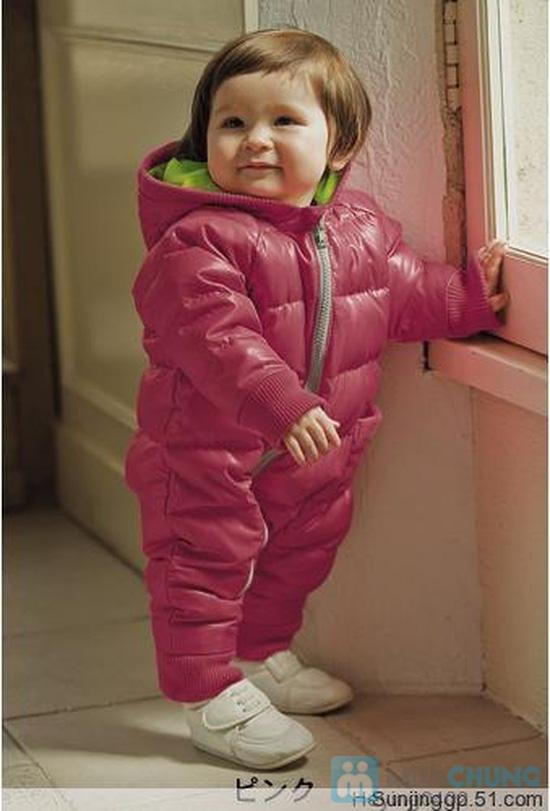 Áo khoác gió liền quần lót nỉ ấm áp cho bé - Chỉ với 194.000đ - 1