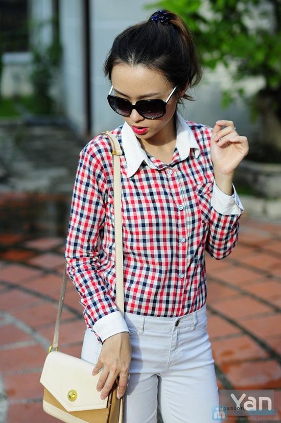 Tự tin khoe cá tính với áo sơ mi nữ sọc caro Yan Fashion - Chỉ 129.000đ/01 Chiếc - 6