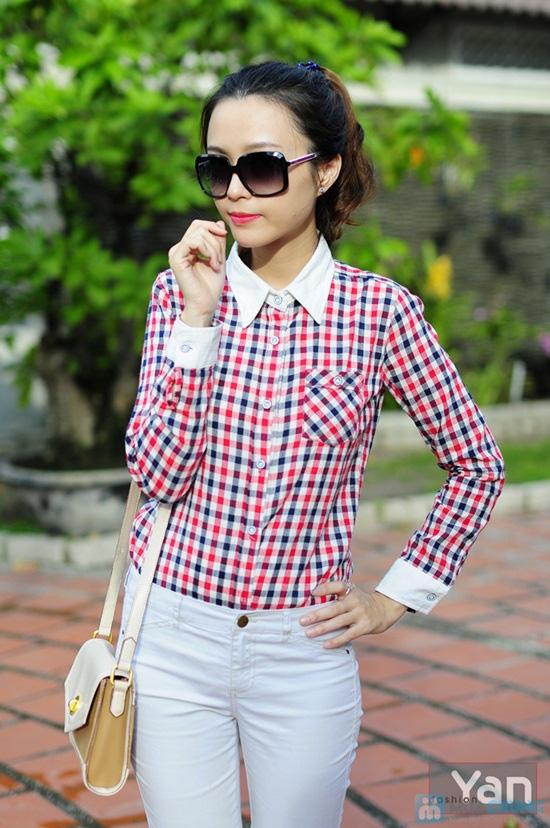 Tự tin khoe cá tính với áo sơ mi nữ sọc caro Yan Fashion - Chỉ 129.000đ/01 Chiếc - 7