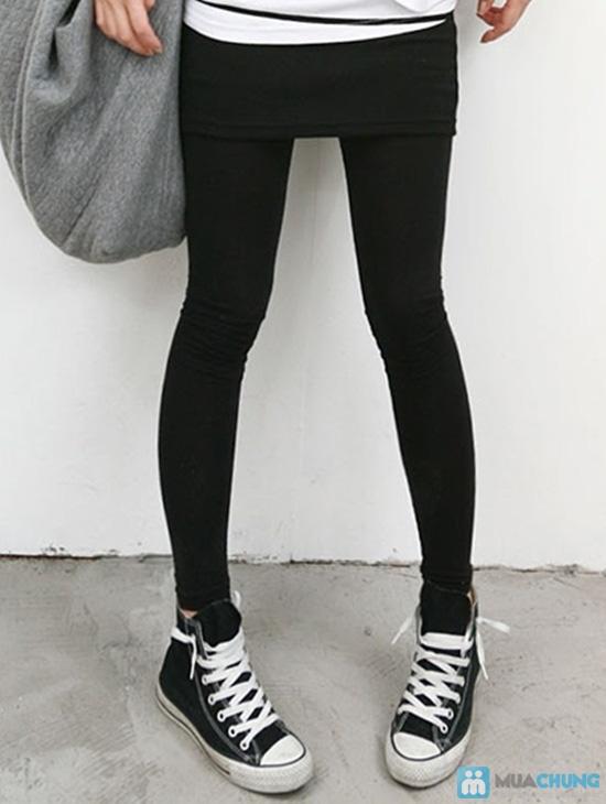 Bộ 02 quần legging hở bàn chân cho bạn gái thỏa sức phối đồ - Chỉ 79.000đ - 4