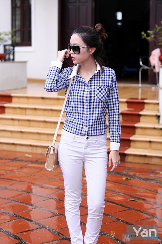 Tự tin khoe cá tính với áo sơ mi nữ sọc caro Yan Fashion - Chỉ 129.000đ/01 Chiếc - 1