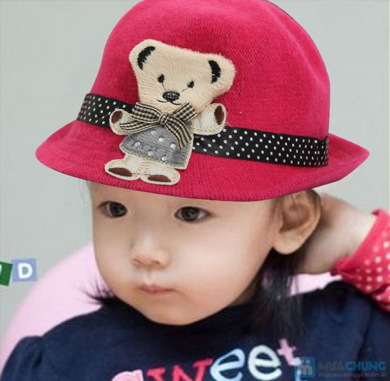 Đáng yêu với nón gấu kiểu Hàn Quốc cực kỳ dễ thương cho bé - Chỉ 80.000đ - 1
