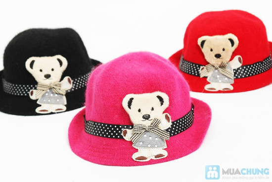 Đáng yêu với nón gấu kiểu Hàn Quốc cực kỳ dễ thương cho bé - Chỉ 80.000đ - 6