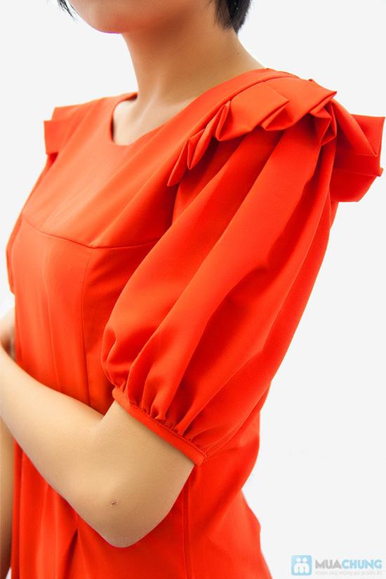 Đầm liền vai xếp li - Biến tấu nhẹ nhàng đem đến sự đáng yêu, dễ thương cho bạn gái- Chỉ 155.000đ - 4