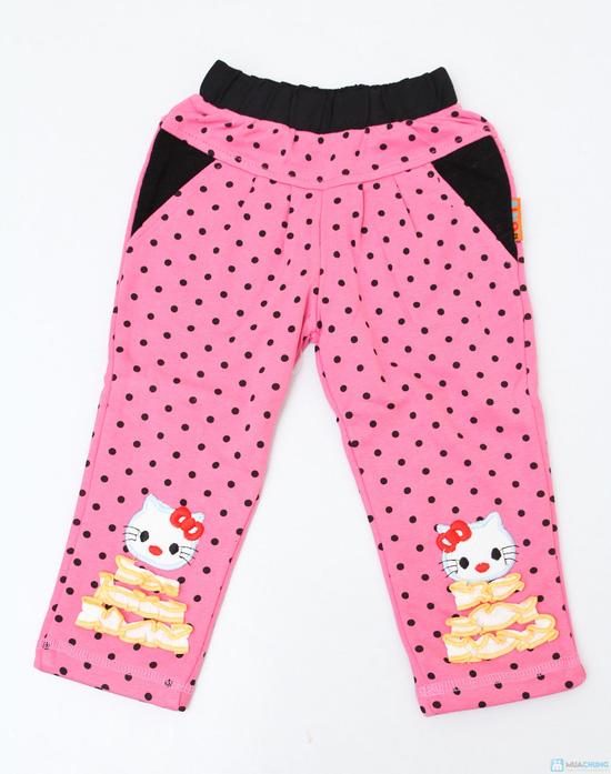 Combo 2 quần chấm bi 2 lớp cho bé gái - 1