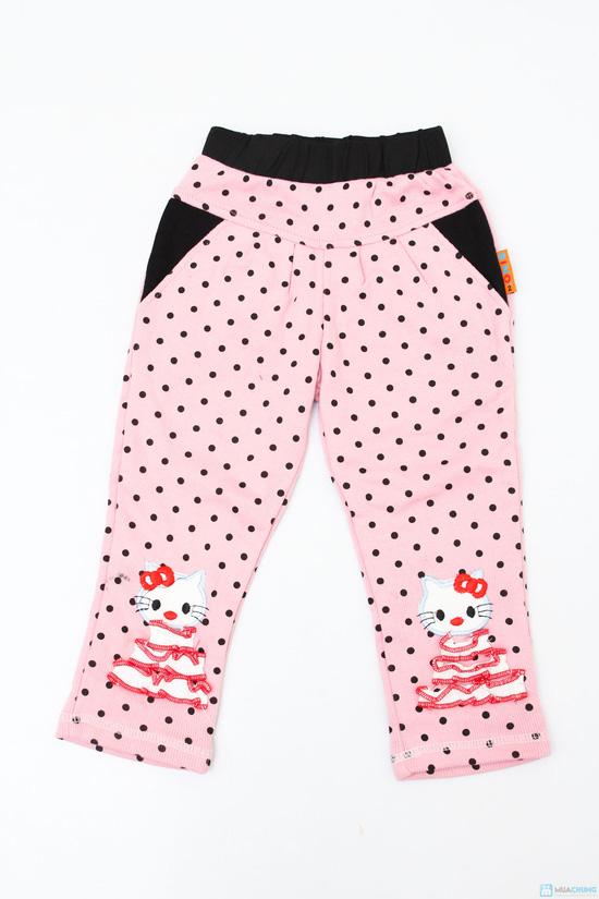 Combo 2 quần chấm bi 2 lớp cho bé gái - 2