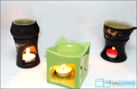 Bộ sản phẩm: 01 đèn đốt, 01 chai tinh dầu, 03 nến - Chỉ 70.000đ - 1