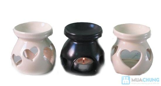 Bộ sản phẩm: 01 đèn đốt, 01 chai tinh dầu, 03 nến - Chỉ 70.000đ - 2