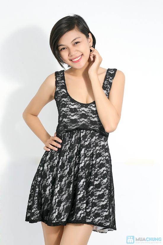 Đầm ren xòe nữ tính cho bạn gái - Chỉ 120.000đ - 2