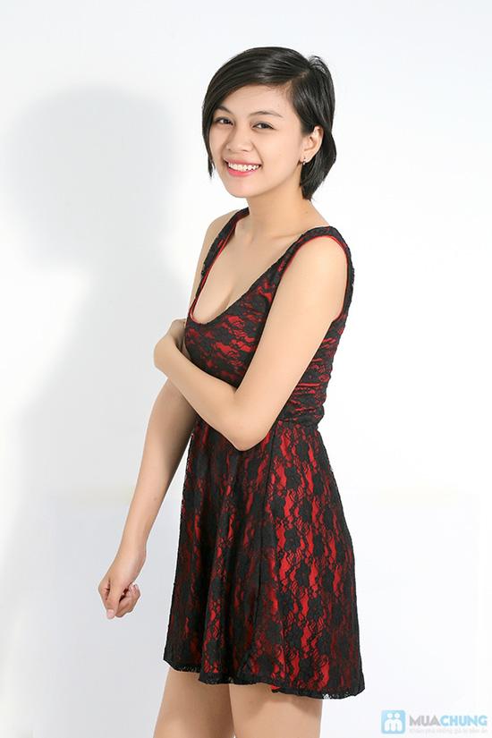 Đầm ren xòe nữ tính cho bạn gái - Chỉ 120.000đ - 3