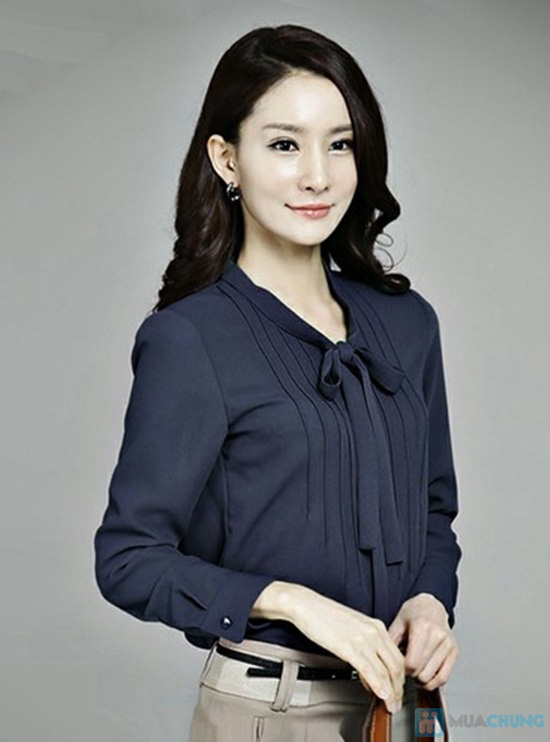 Trẻ trung và phong cách với chiếc áo sơ mi nơ xinh xắn - Chỉ 115.000đ/01 chiếc - 1