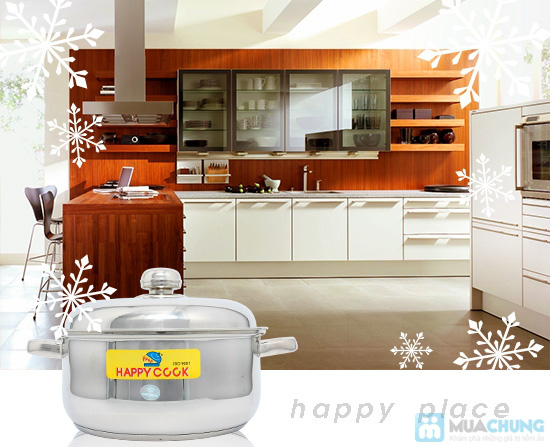 Bộ nồi + xửng hấp 2 trong 1 Happy Cook, món quà ý nghĩa cho việc nội trợ - Chỉ 285.000đ - 6