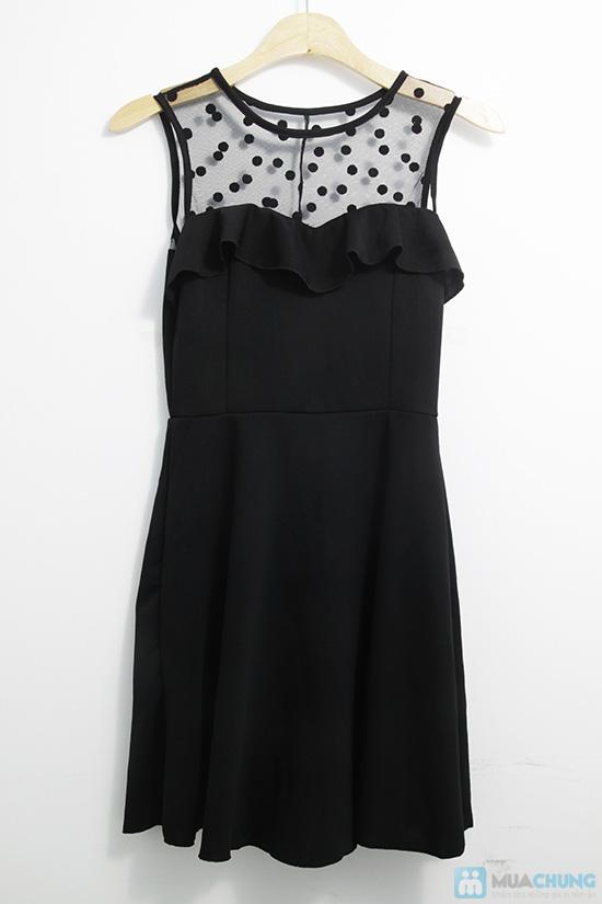 Đầm xòe chấm bi phối ren - Gợi cảm, quyến rũ khi đến các buổi tiệc - Chỉ 135.000đ/01 chiếc - 5